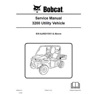 Bobcat 3200 UTV Service Repair Manual PDF S/N AJNS 11001 & Above