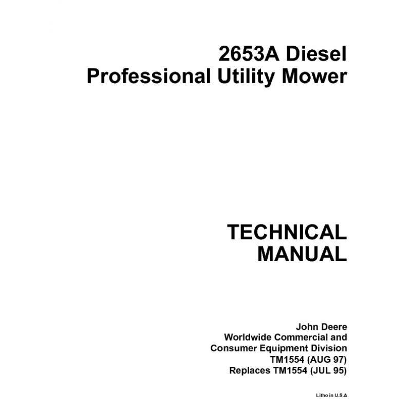 john deere 2653a diesel professional utility mower ser rh sellfy com john deere 2653 service manual John Deere Dealership