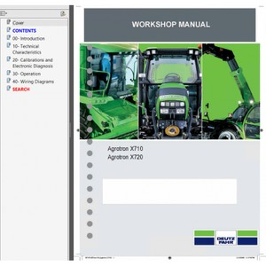 Deutz Fahr Agrotron X710, X720 Tractors Workshop Service Repair Manual PDF