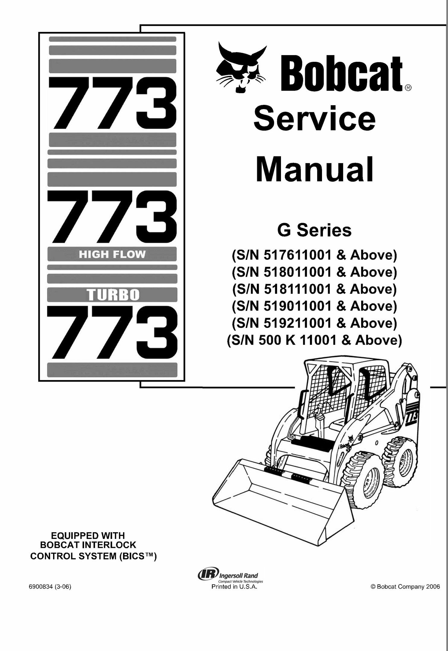 bobcat 773 g series skid steer loader service repair m rh sellfy com Bobcat Skid Steer 773 Turbo HP Bobcat Skid Steer 773 Values
