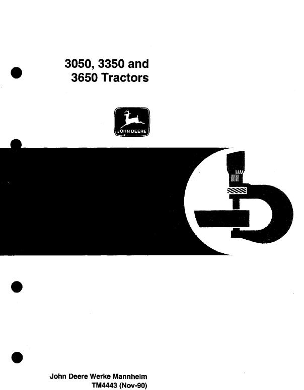 john deere 3050 3350 3650 service repair manual tm4443 rh sellfy com