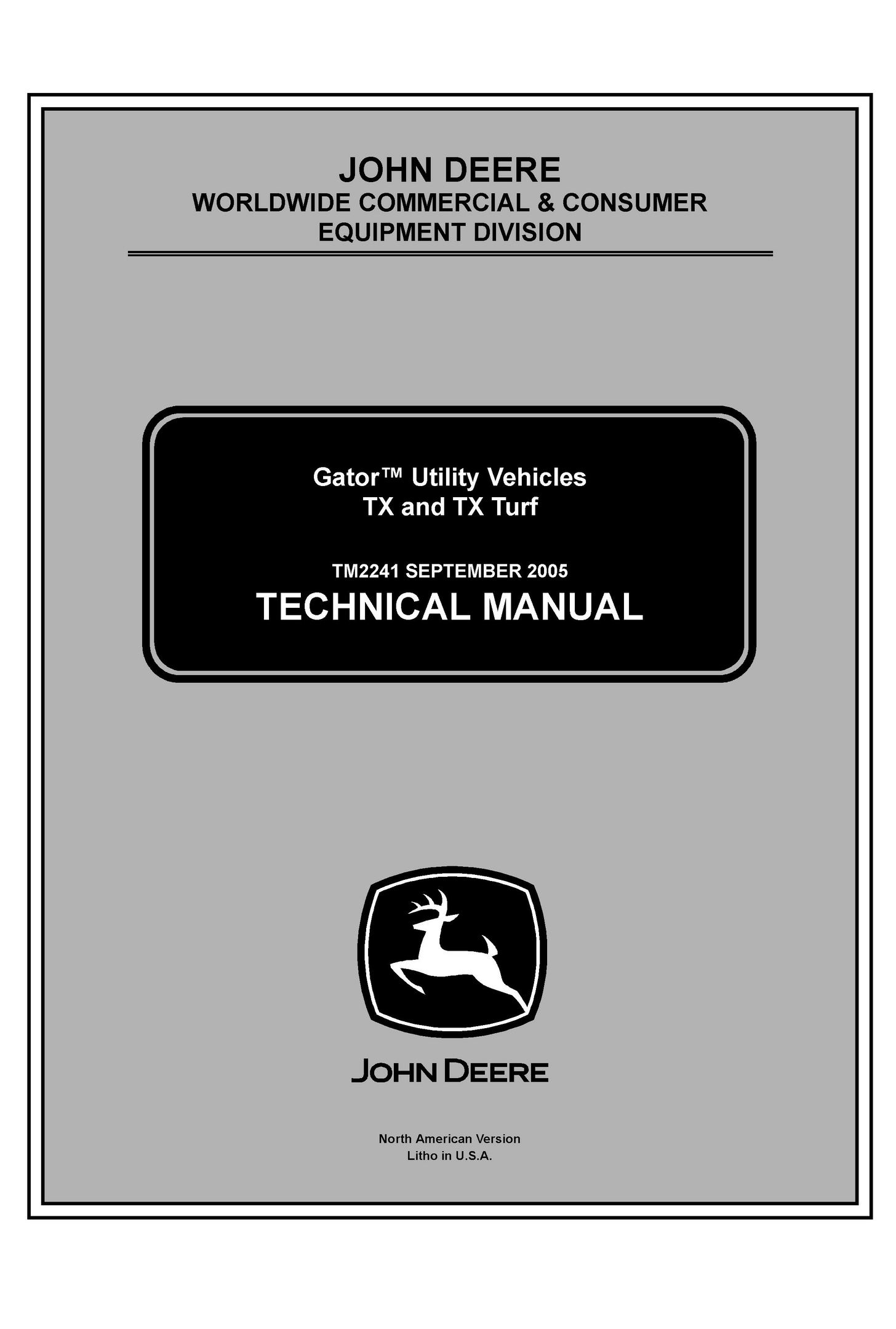 john deere tx and tx turf gator utility vehicle servic rh sellfy com john  deere gator 6x4 service. manual pdf john ...