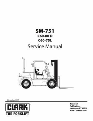 Pdf Download Clark C60-80D C60-75L Forklift Factory Service Manual