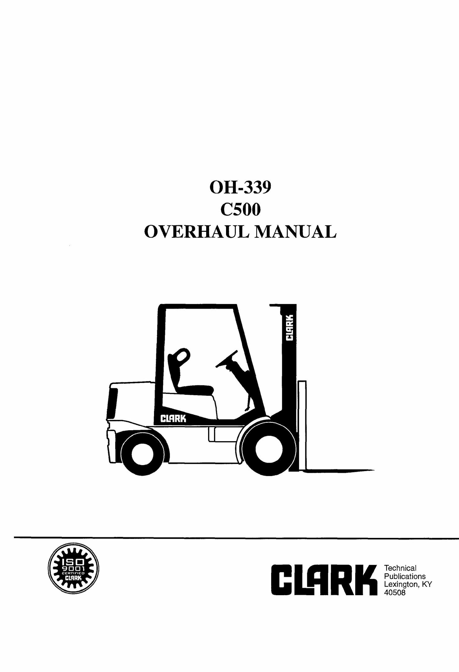 CLARK FORKLIFT REPAIR MANUAL PDF