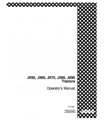 CASE IH JX55 JX65 JX75 JX85 JX95 TRACTOR OPERATOR'S MANUAL