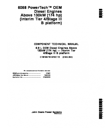 john deere 6068 powertech 6 8 l oem above 130kw 174 h rh sellfy com 6068 John Deere Parts Manual John Deere Feller Buncher