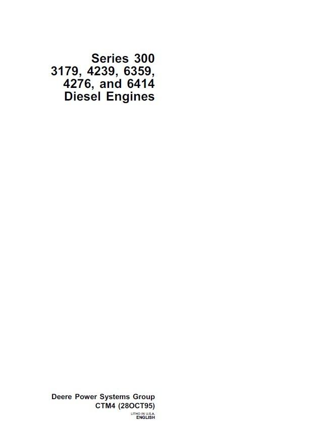 john deere 300 series 3179 4239 6359 4276 and 6414 rh sellfy com John Deere Lawn Tractors John Deere GT225 Manual