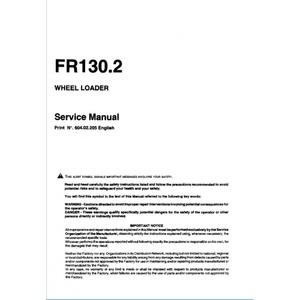 FiatAllis FR130.2 Wheel Loader Service Repair Manual PDF