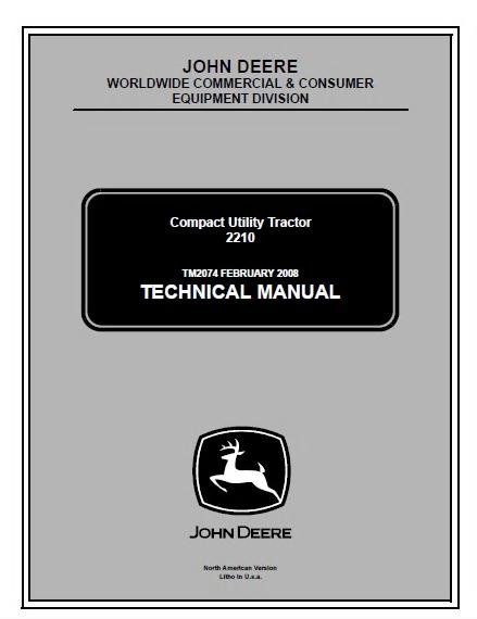 john deere 2210 compact utility tractor service techni rh sellfy com John Deere 2210 Problems John Deere 2210 Hydraulic Schematics