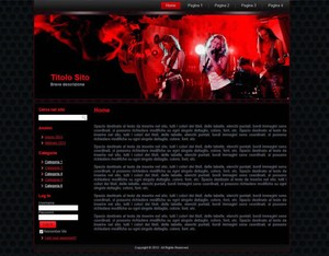Template WordPress Rock