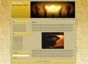 Template WordPress Lampadine