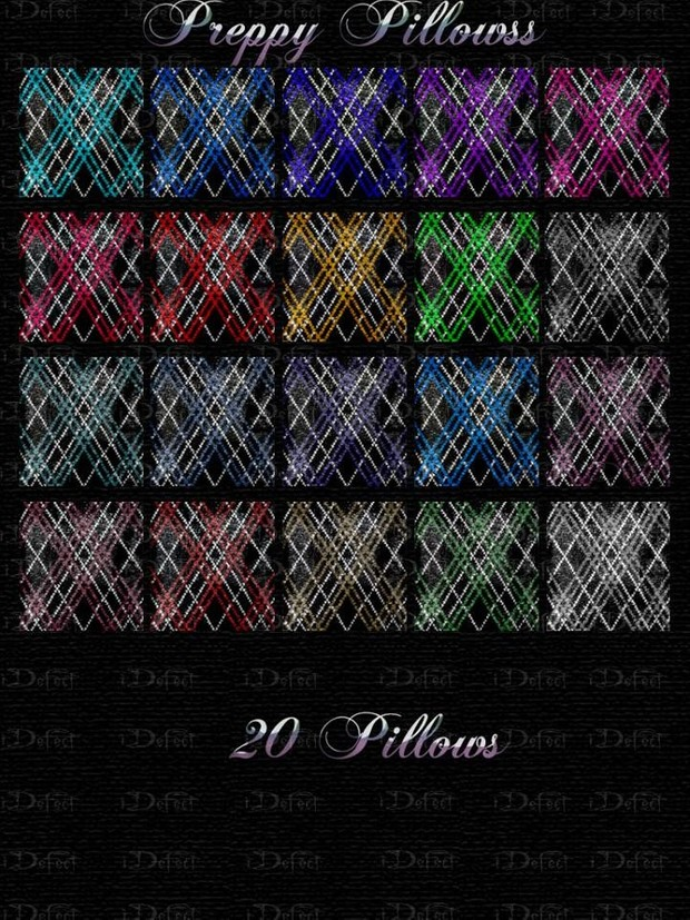 Preppy Pillows Textures Catty Only!!!