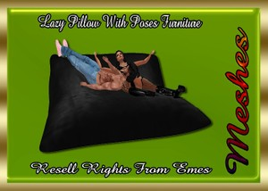 Lazy Pillow With Poses Furniture Catty Only!!!