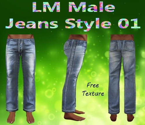 Male Jeans Style 01 Mesh & Free Texture Catty Only!!!