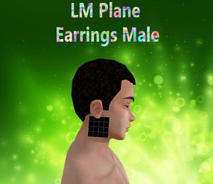 Plane Earrings Male Mesh Catty Only!!!