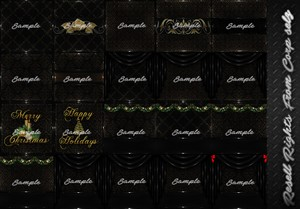 Black Christmas Textures Catty Only!!!