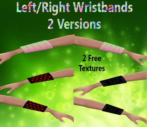 Left/Right Wristbands Mesh Female Catty Only!!!