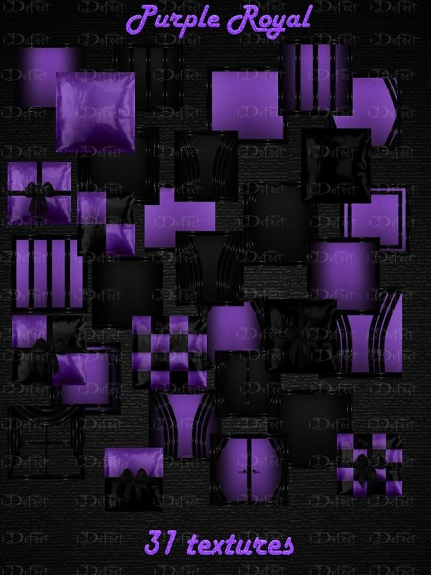 Purple Royal Textures Catty Only!!!