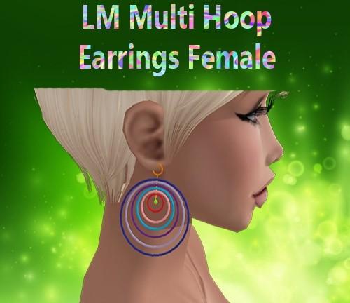 Multi Hoop Earrings Female Mesh Catty Only!!!