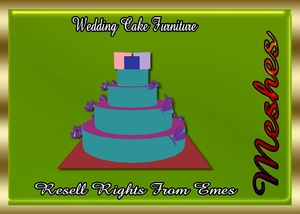 Wedding Cake Furniture Catty Only!!! (Cake With Butterflies On It)