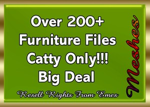 Over 200+ Furniture Files Catty Only!!! Big Deal Bundle