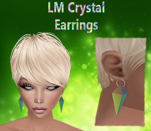 Crystal Earrings Mesh Catty Only!!!!
