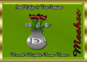 Small Tulips & Vase Furniture Catty Only!!!
