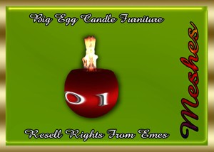 Big Egg Candle Furniture Catty Only!!!