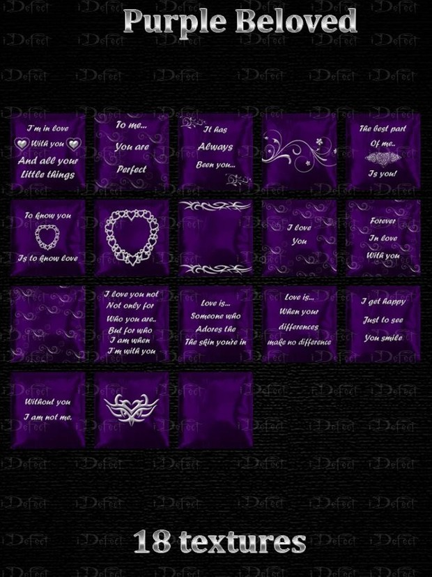 Purple Beloved Pillows Textures Catty Only!!!