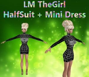 The Girl HalfSuit & Mini Dress Mesh Catty Only!!!!
