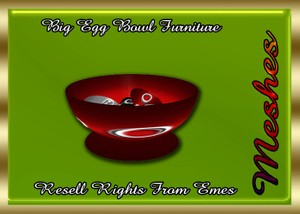 Big Egg Bowl Furniture Catty Only!!!