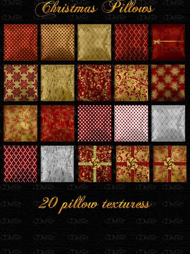Christmas Pillows Textures Catty Only!!!