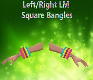 Left/Right Square Bangles Female Mesh Catty Only!!!