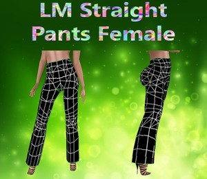 Straight Pants Female Mesh Catty Only!!!