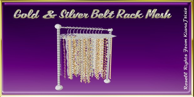 Gold & silver Belt Rack Mesh Catty Only!!!