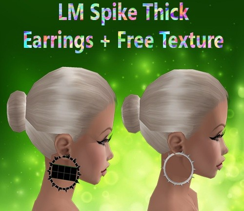 Spike Thick Earrings Mesh & Free Texture Catty Only!!!