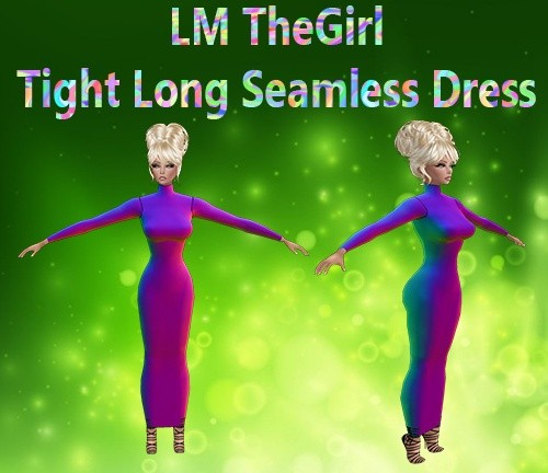 The Girl Tight Long Sleeveless Dress Mesh Catty Only!!!