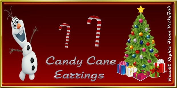Christmas Candy Cane Earrings Mesh Catty Only!!!