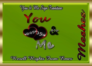 You & Me Sign Furniture Catty Only!!!