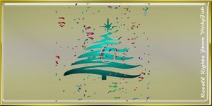 Christmas Tree Wall Decor Animated Confetti Mesh Catty Only!!!