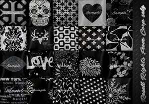 Black Pack Pillows Textures Catty Only!!!!