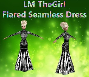 Flared Seamless Dress Mesh Catty Only!!!