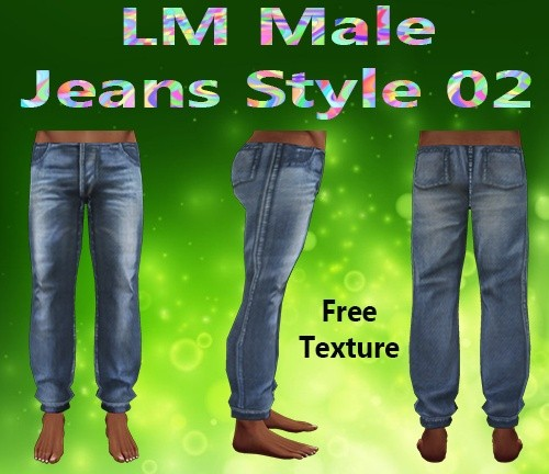 Male Jeans Style 02 Mesh & Free Texture Catty Only!!!