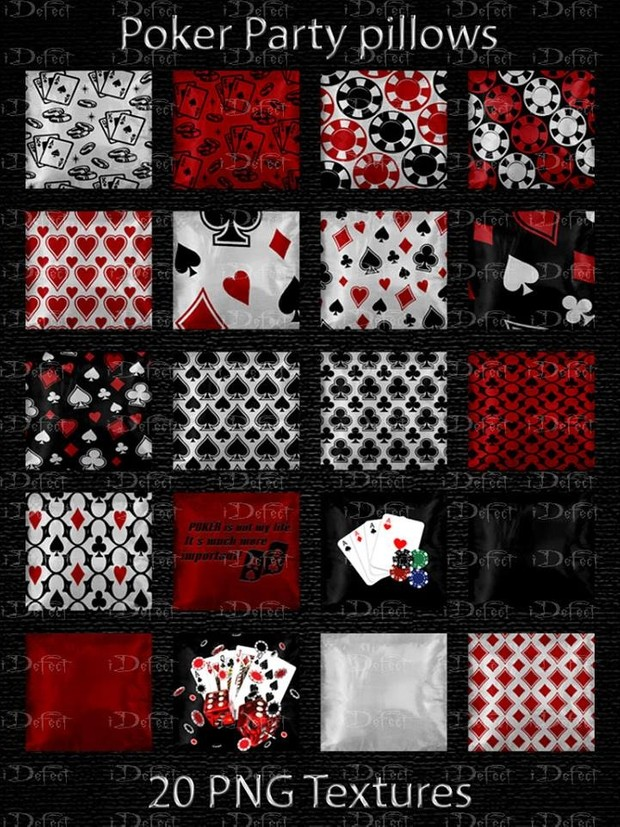 Poker Party Pillows Textures Catty Only!!!