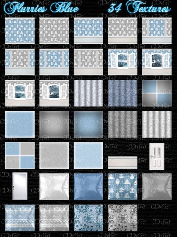 Flurries Blue Textures Catty Only!!!