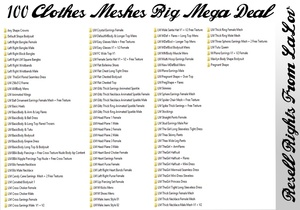 100 Clothes Meshes Big Mega Deal Bundle Catty Only!!!