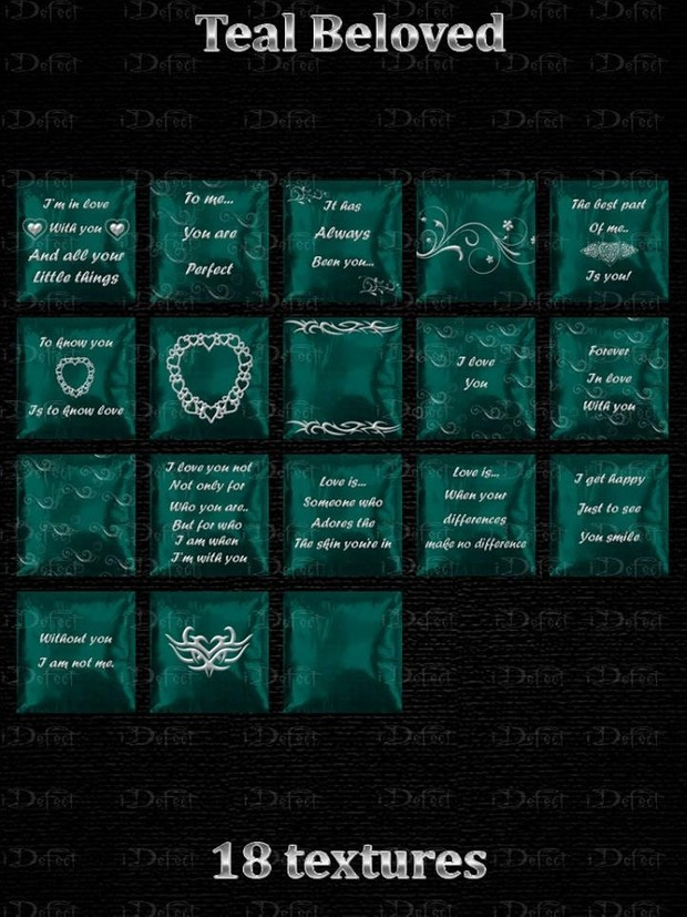 Teal Beloved Pillows Textures Catty Only!!!