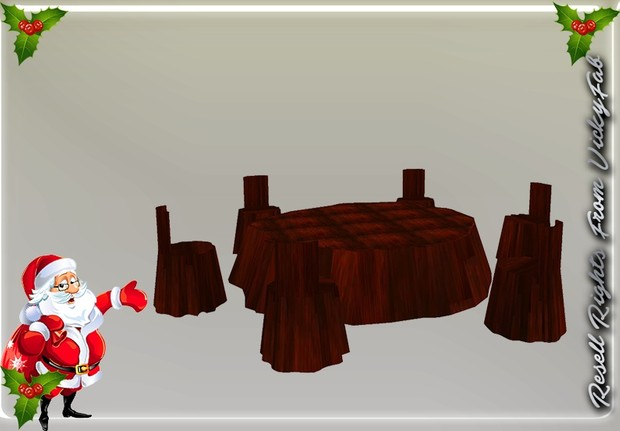 Wooden Table & Chairs Mesh Catty Only!!!