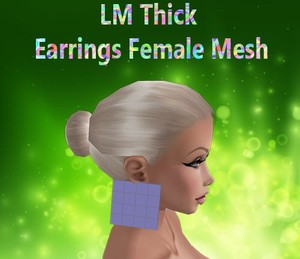 Thick Earrings Female Mesh Catty Only!!!!