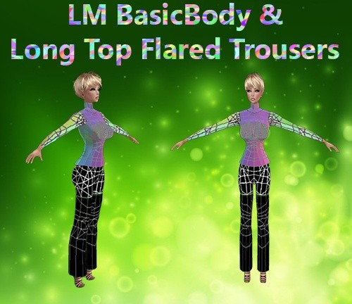 Basic Body & Long Top Flared Trousers Mesh Catty Only!!!